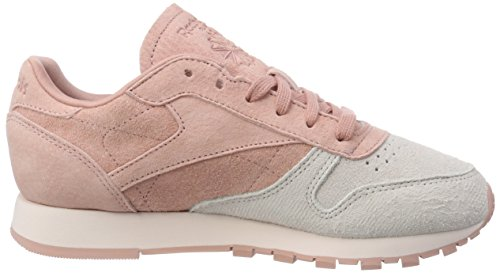 Femme Nbk Basses Sneakers Reebok Pink pale Rose chalk Leather Classic qXx7qEAF