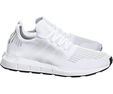 adidas Originals Unisex-Kids Swift Run J Sneaker, White/Crystal White/Black, 6 Medium US Big Kid