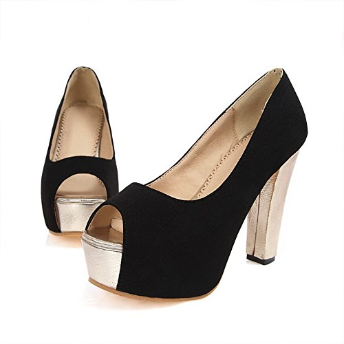 Womens Pull 1TO9 On Heels Black Sandals High Frosted AqnzSxnd1