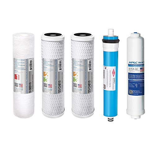 APEC FILTER-MAX90 US Made 90 GPD Complete Replacement Filter Set For ULTIMATE Series Reverse Osmosis Water Filter System (For Standard 1/4