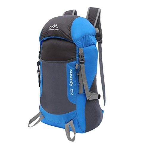 - Cinhent Backpacks Boys Girls Men Fashion Versatile Nylon Sport Equipment Rock Climbing Chalk Bag Bag Shoulder Motion Travel Comfortable and Light Backpack (Blue)