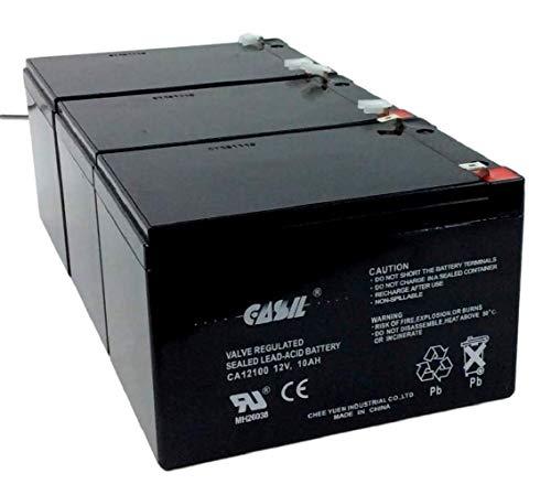 3 Pack 12V 10AH 12AH Casil F2 for Razor Battery Fits MX500 MX650, W15128190003-3
