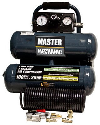 Price comparison product image North American Tool Ind. 154850 Master Mechanic,  2 Gallon,  Twin Tank,  Air Compressor