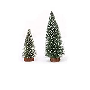 TOYMYTOY 6pcs Mini Christmas Tree Stick White Cedar Desktop Small Christmas Tree 32