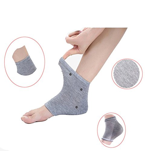 Gel-Cracked-Heel-Socks-Pinkiou-Plantar-Fasciitis-insole-Open-Toe-Socks-Moisturizing-Sleeve-Soft-Compression-Day-Night-Pain-Relieve-Feet-care-gray