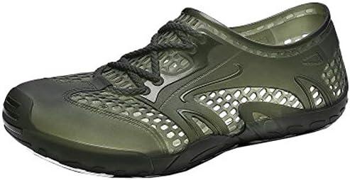 穴の靴カジュアル野生のビーチの靴の潮のブランドの海辺のサンダルの潮のファッション、豚のケージの靴男性の夏(緑) ポータブル (色 : Green, Size : US11)