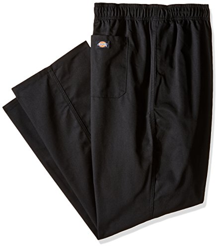 Dickies Chef Men's Unisex Traditional Baggy Pant, Black, 5X-Large