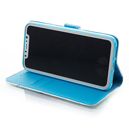 Galaxy Ständer Screen Tempered Free Slim S8 Samsung Farbe drei Glass mit für S8 Protector Holder Card Lederhülle mit Galaxy Wallet Samsung xnPqTwYZ