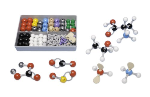Molymod MMS-009 Inorganic/Organic Chemistry Molecular Model, Student Set (52 atom parts) by Molymod (Image #1)