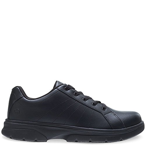 Wolverine Men's Serve SR LX Oxford Food Service Shoe, Black, 9.5 M (Wolverine Oxford Shoe)