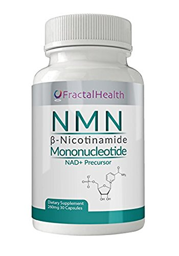 (NMN) β- Nicotinamide Mononucleotide 125mg + 80mg Resveratrol + 50mg's Tumeric Root by Fractal Health