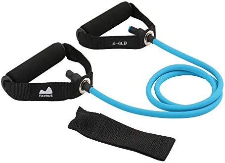Exercise Tube With Door Anchor REEHUT Exercise Band Single Resistance Band