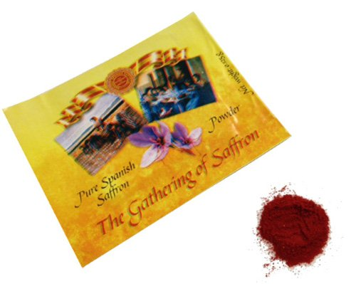 Pure Spanish Saffron Powder, Box of 50 .125 g envelopes