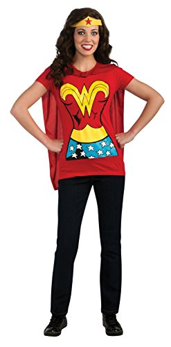 Female Superhero T-Shirt Adult Costume Wonder Woman -