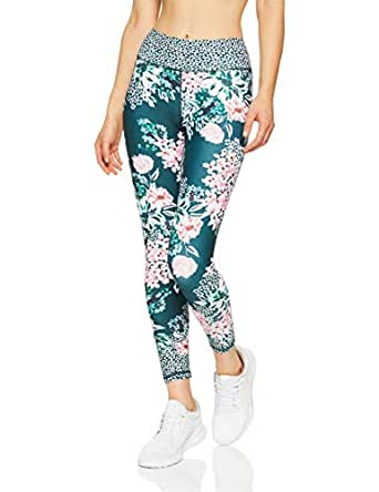 Dharma Bums Women's Crafted Botanical High Waist Printed Legging - 7/8, Multicoloured, Extra Small