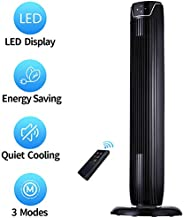 Tower Fan, Oscillating Quiet Cooling Fan Tower with LED Display, Timer and Remote, Built-in 3 Modes and Speed