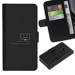 NEECELL GIFT forCITY // Billetera de cuero Caso Cubierta de protección Carcasa / Leather Wallet Case for Samsung Galaxy S3 MINI 8190 // Confía en el equipo