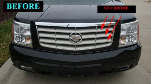 312 Motoring fits 2002-2006 Cadillac Escalade Chrome Grille Grill KIT 2003 2004 2005 02 03 04 05 06 ESV EXT