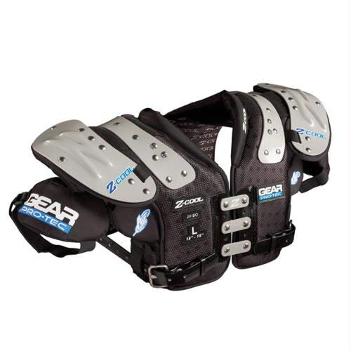 Quarterback Shoulder Pads - Gear Pro-Tec Z-COOL QB/WR/DB-Pro Select Football Shoulder Pads, Medium