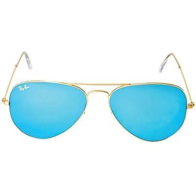 Ray-ban Men's and Women's Rb3025 112/17 Gold Frame Blue Lens Aviator 58mm Sunglasses