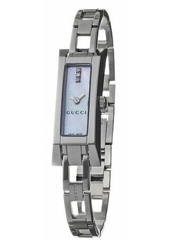 GUCCI Women's YA110516 110 Series Diamond Accented Watch