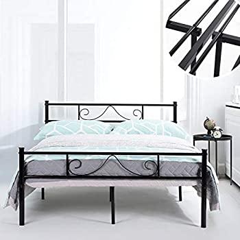 Amazon Com Greenforest Bed Frame Queen Size With