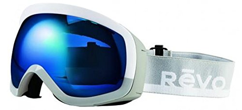 Revo Unisex RG 7000 Capsul Ski & Snowboard Sport Polarized UV Protection Goggles, White/Gray Frame, Blue Water ()