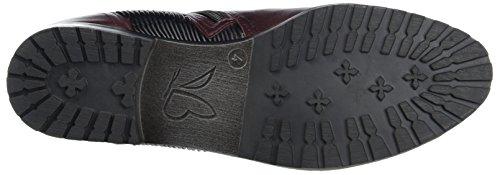 Caprice Damen 25350 Chelsea Boots Rot (Bord.NAP.Multi)