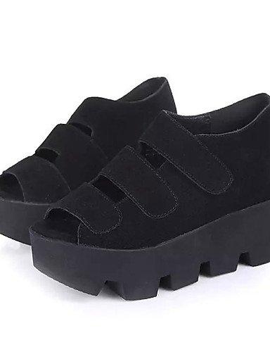 Zq us8 Zapatos Cn37 negro tac¨®n Silver Rosa vell¨®n tacones De Eu39 Mujer a Cn39 Silver 5 Plata cu Uk6 Uk4 5 7 5 Cu casual us6 Eu37 as ZZdqwrPp