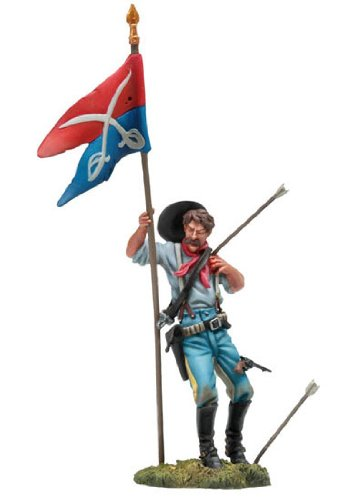 Black Hawk Collectible Toy Soldiers 1/32 Scale US 7th Cavalryman Wounded Standard Bearer Custer's Last Stand Little Bighorn 1876 Metal Figure New in Box BH-0102 Britains King & Country Type