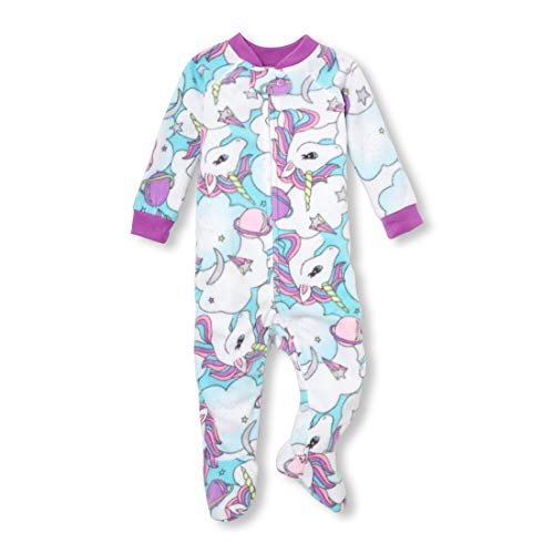 The Children's Place Baby Girls Zip Blanket Sleeper, time for Teal, 9-12MOS