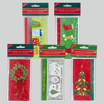 Christmas House 207422 Christmas Wishes Money Holders with Envelopes (8 Ct)