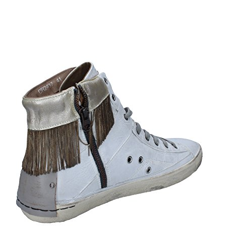 Crime - Zapatillas de Piel para mujer blanco Bianco