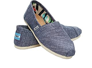 TOMS Women's Canvas Slip-On in Chambray, 7.5 (B00VKIP7A4) | Amazon price tracker / tracking, Amazon price history charts, Amazon price watches, Amazon price drop alerts