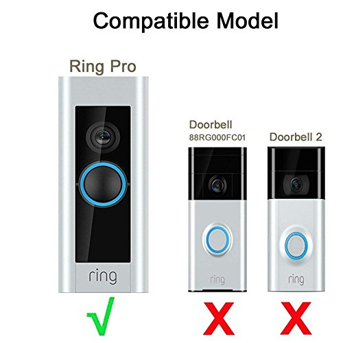 Ring Doorbell Pro Adapter Mounting Wedge Kit Ring 3x Adjustable 20 to 50 Degree
