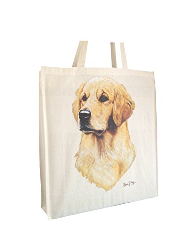 Gusset and Perfect Shopping RM Cotton Labrador Yellow with Bag Breed Gift Handles of Long Dog zwxxfqZUH