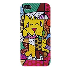 JJE Cartoon Multicolor Puppy Hard Case for iPhone 5/5S