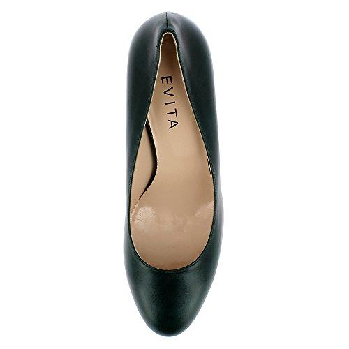 Evita Shoes Bianca - Zapatos de vestir de Piel para mujer verde oscuro