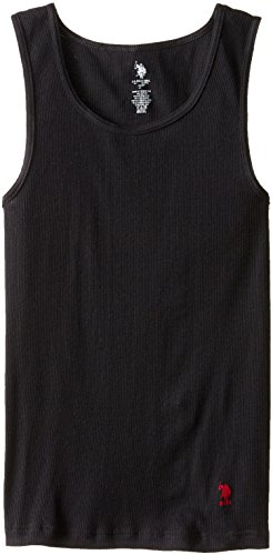 U.S. POLO ASSN. Men's 3-Pack A-Shirt, Black, Large - Polo Cotton Tank Top