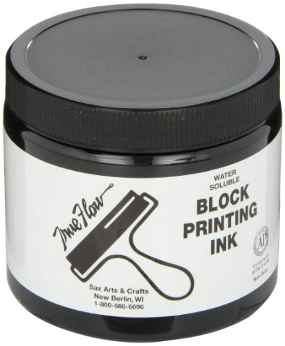 Sax 1299777 True Flow Water Soluble Block Printing Ink - 16 Ounces - Black ()