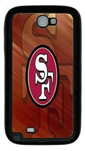 Unique Design New Style NFL San Francisco 49ers Team Logo Samsung Galaxy Note II N7100 Case, Samsung Galaxy Note II N7100 Case black