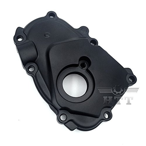 (HTT Motorcycle Black Right Side Engine Crankcase Cover Ignition Trigger For 2003-2005 Yamaha YZF-R6/2006-2009 Yamaha YZF-R6S/1989-1997 Yamaha FZR600/1989-1990 Yamaha FZR500)