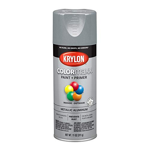 Krylon K05587007 COLORmaxx Spray Paint, Aerosol, Aluminum