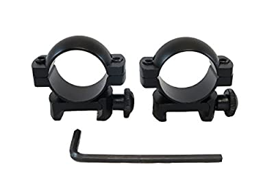 "Monstrum Tactical 1"" Scope Ring Set, Low Profile, with Picatinny/Weaver Rail Mount"