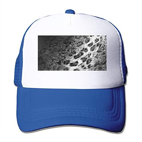 Good Wish Unisex Leopard Fur Trucker Cap Suitable for Indoor or Outdoor Activities Blue