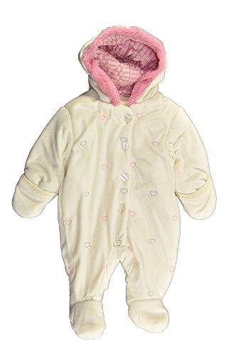 Juicy Girls Heart Couture - Juicy Couture Baby-Girls Newborn Heart Printed Pram, Cream, 3/6 Months