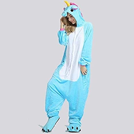 Pijama Unicornio Adulto Invierno Unisex del Unicornio del ...