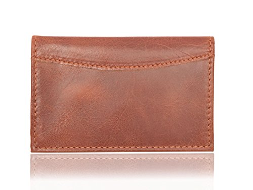 V-élan Men's Vintage Leather Card Case with RFID Protection 4