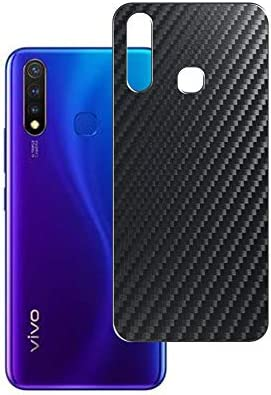 Vaxson 2-Pack Back Protector Film, compatible with vivo U3, Black Carbon Fiber Guard Cover Skin [Not Tempered Glass/Not Front Screen Protectors]