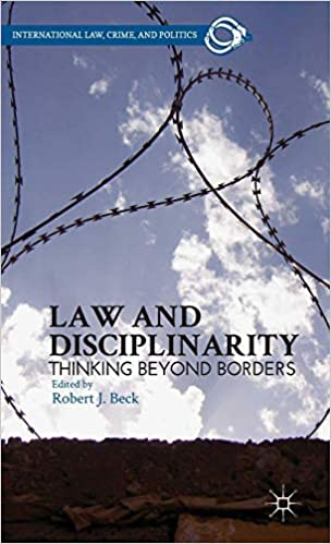 Amazon com: Law and Disciplinarity: Thinking Beyond Borders